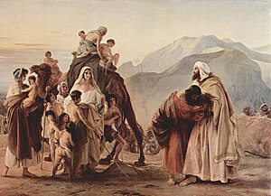 Esau - Francesco Hayez: Esau and Jacob reconcile (1844)