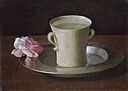 Francisco de Zurbarán - Cup of Water and a Rose on a Silver Plate - WGA26060.jpg