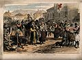 Franco-Prussian War; women carrying wounded soldiers to hosp Wellcome V0015454.jpg