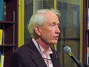Frank McCourt - McCourt at New York's Housing Works bookstore paying tribute to Irish poet Benedict Keily, 2007