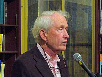 Frank McCourt - McCourt at New York's Housing Works bookstore paying tribute to Irish poet Benedict Keily, 2007