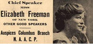 Elisabeth Freeman - Elizabeth Freeman speaking at NAACP