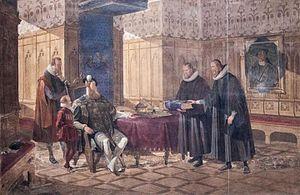 1541 in Sweden - Fresco 6 - Den forsta svenska bibeloversattningen