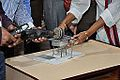 Frictional Electricity Demonstration - Indo-Finnish-Thai Exhibit Development Workshop - NCSM - Kolkata 2014-12-03 0843.JPG