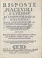 Frontespiece of 'Risposte Piacevole e Curiose di Lodovico delle Colombe alle Considerazioni di certa maschera saccente, nominata A. Mauri.jpg
