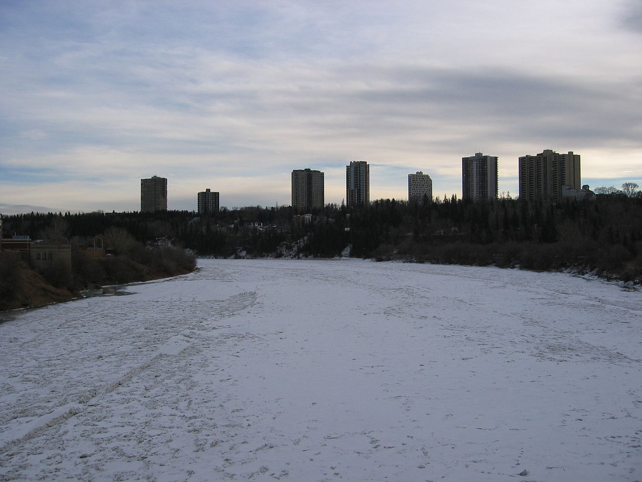 FileFrozen North Saskatchewan River Edmontonjpg