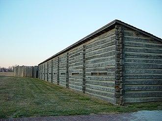 Fort Atkinson (Nebraska) - West ramparts of (reconstructed) Fort Atkinson