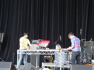 Fuck Buttons - Fuck Buttons performing at All Tomorrow's Parties, Mt Buller, Australia in 2009