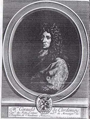 Géraud de Cordemoy - Portrait of Géraud de Cordemoy in the 1704 edition of the complete works