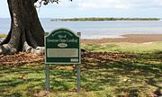 G.J. Walter Park Governor Gipps Sign & Cassim Island in background 3 c