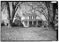 GENERAL VIEW OF EAST FRONT ELEVATION - P. A. Bowen House, 15701 Dr. Bowen Road, Aquasco, Prince George's County, MD HABS MD,17-AQUA,5-2.tif