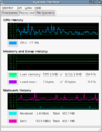 GNOME System Monitor memory size and network rate.png