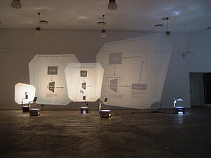 Ubermorgen - GWEI – Google Will Eat Itself – Installation, The Premises Gallery, Johannensburg, 2005