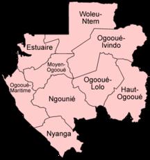 Gabon-Suddivisioni amministrative-Gabon provinces named