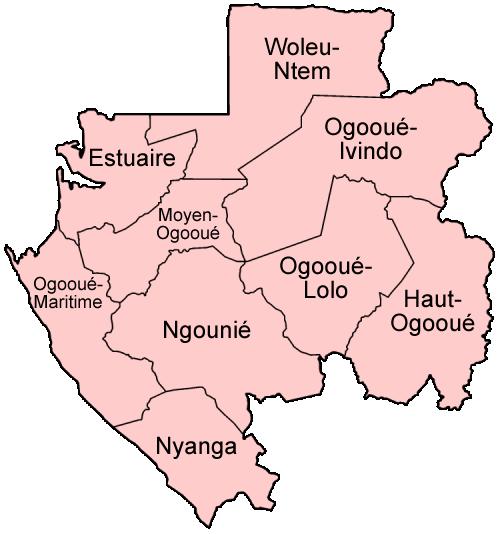 Gabon provinces named