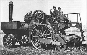 Ganz Works - Ganz steam tractor with rotary plow, (produced since the 1870s)