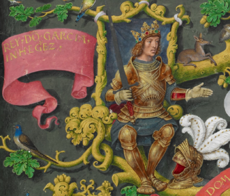 García Íñiguez of Pamplona - Representation of García Íñiguez in a book about the Portuguese monarchs