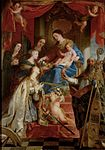Gaspar de Crayer - Virgin with child and saints Maria Magdalen, Cecilia, Dorothea, Catharina and Augustine.jpg
