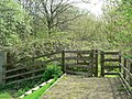 Gate and footpath, Leeds Rugby Academy, Kirkstall - geograph.org.uk - 165309.jpg