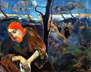 Christ on the Mount of Olives (Paul Gauguin) - Gauguin-christ-in-garden