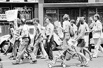 Gay rights demonstration at the Democratic Nat...