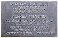 Gedenktafel Georg-Wilhelm-Str 20 Alfred Lothar Wegener.JPG