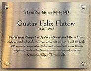 Gedenktafel Schlüterstr 49 (Charl) Gustav Felix Flatow
