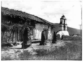 San Antonio de Pala Asistencia - Pala Mission around 1903, falling into ruins