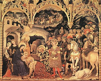 Gentile da Fabriano - Adoration of the Magi (1423)