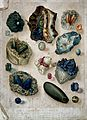Geology; various uncut gemstones, and the substrate in which Wellcome V0025153.jpg