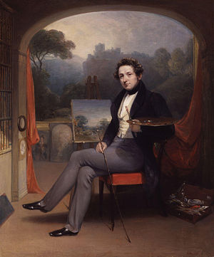 George Arnald - Selfportrait of George Arnald in his studio, 1831