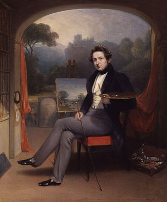 George Arnald - Selfportrait of George Arnald in his studio, 1831