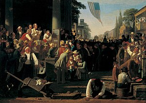 The Verdict of the People - Image: George Caleb Bingham The Verdict of the People