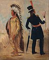 George Catlin - Wi-jún-jon, Pigeon's Egg Head (The Light) Going To and Returning From Washington - Google Art Project.jpg