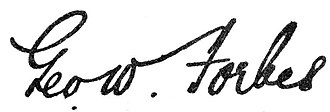 George Forbes (New Zealand politician) - Image: George Forbes Signature