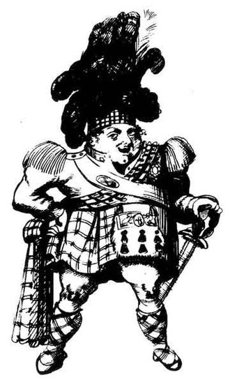 Visit of King George IV to Scotland - Contemporary caricature of the kilted King George IV.