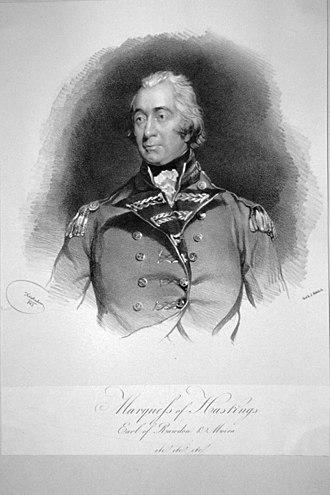 George Rawdon-Hastings, 2nd Marquess of Hastings - Portrait of George Rawdon-Hastings, 2nd Marquess of Hastings by Josef Kriehuber (1843)