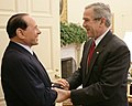 George W. Bush welcomes Silvio Berlusconi.jpg