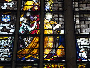 Dirk Crabeth - The first window (lower detail) with donor George van Egmond (1555)