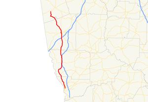 Georgia State Route 219 - Image: Georgia state route 219 map
