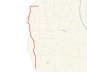 Georgia State Route 39 - Image: Georgia state route 39 map