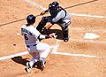 Gerald Laird receiving the ball at home plate.JPG