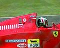 Gerhard Berger - Ferrari 412T1B at the 1994 British Grand Prix (32500393026).jpg