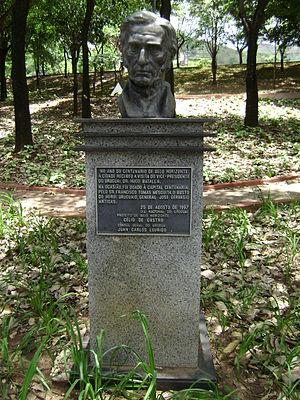 José Gervasio Artigas - Bust of Artigas in Belo Horizonte.