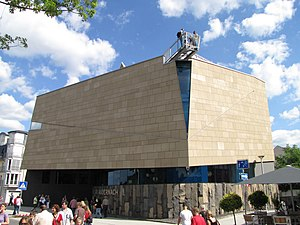 Andernach Geyser - The Geyser experience centre in Andernach on its opening day