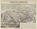 Gezicht op de Wereldtentoonstelling te Amsterdam, 1883 Guide de l'Exposition. Amsterdam 1883 (titel op object), RP-P-OB-89.767.jpg