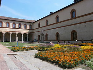 Antique Furniture & Wooden Sculpture Museum - An inner view of Sforza Castle.