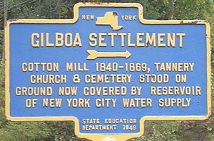 Gilboa, New York - Gilboa Historical Sign