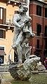 Giovanni antonio mari (su bozzetto di bernini), etiope in lotta con un delfino della fontana del moro, 1654, 00.jpg
