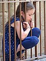 Girl outside Selimiye Mosque - Northern Nicosia - Turkish Republic of Northern Cyprus (28188866860).jpg